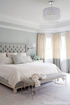 Silver Upholstered Bed