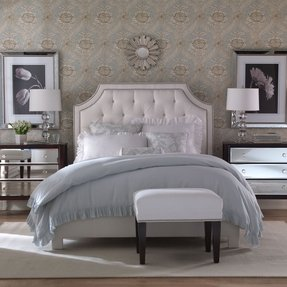 Silver upholstered headboard 14