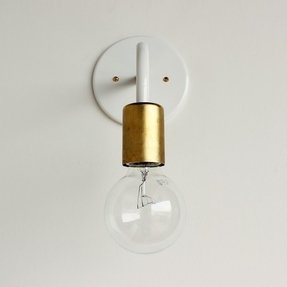 Single light wall sconce 4