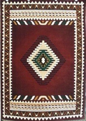 South West Native American Rug Burgundy Design 143 5 Feet X 7