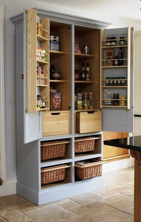 Storage pantry cabinets