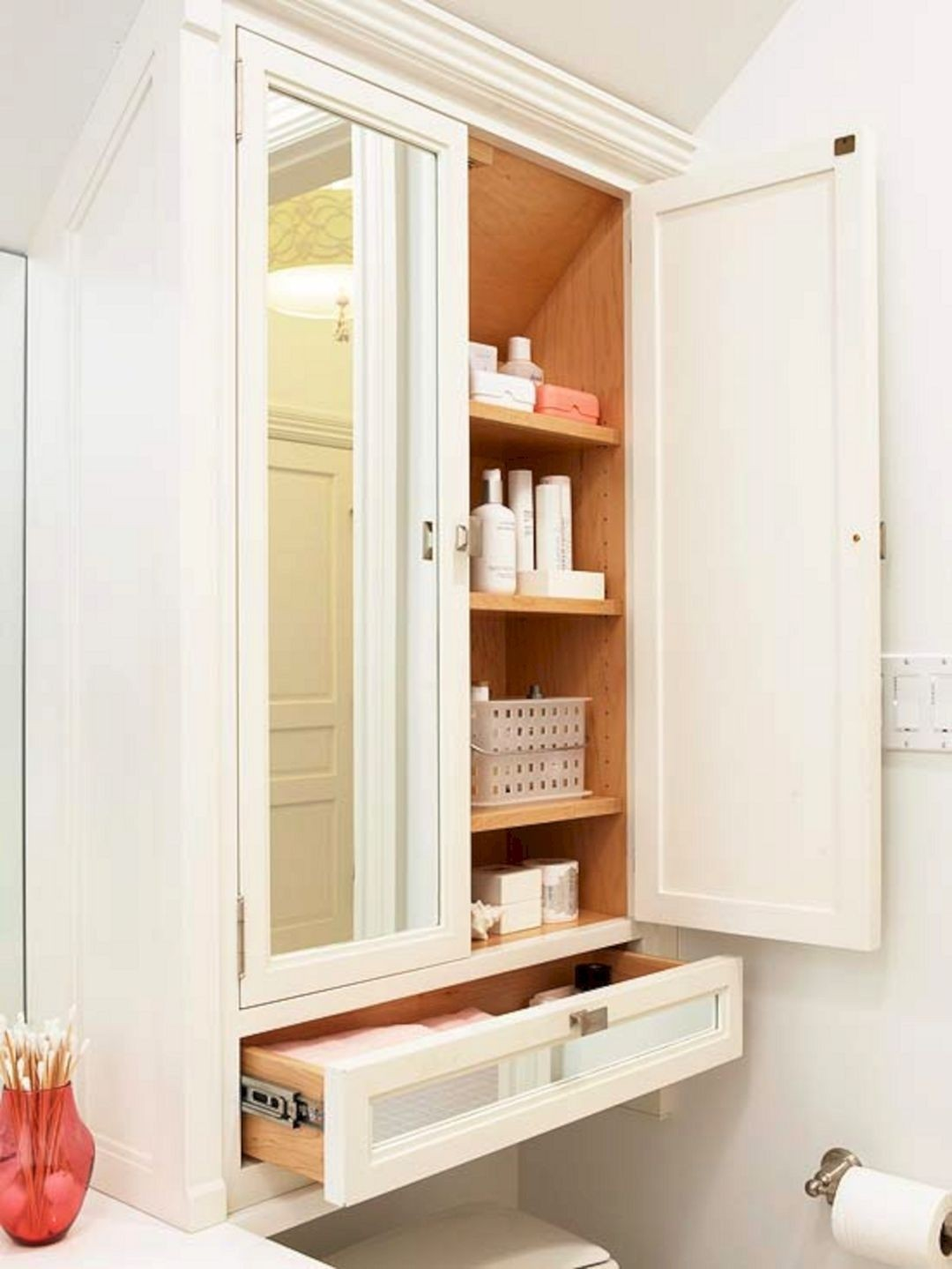 Wall Jewelry Storage. Practical White Over The Toilet ...