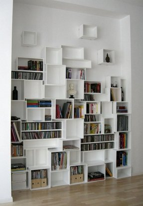 Wall mounted cd storage