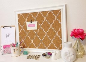 White frame bulletin board 25