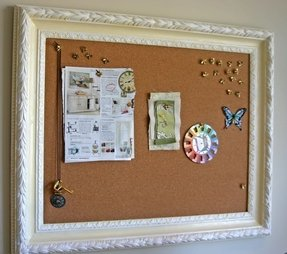 White frame bulletin board 3