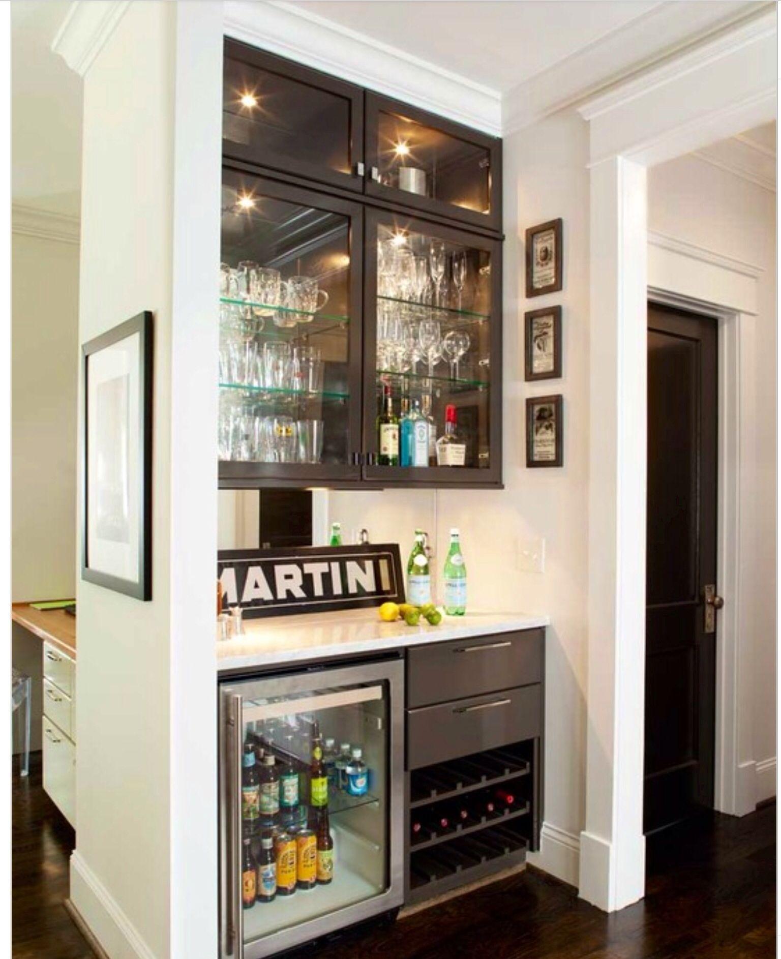 Wine Fridge In Cabinet