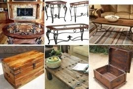 Wood And Wrought Iron Coffee Table