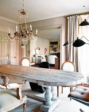 Wood oval dining table 3