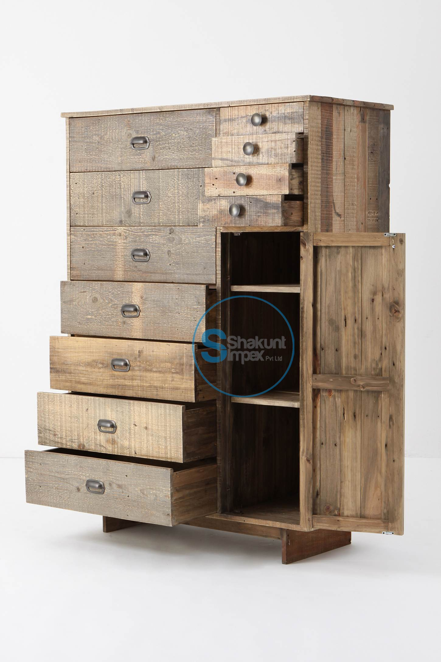 Wood Storage Cabinet With Drawers Foter