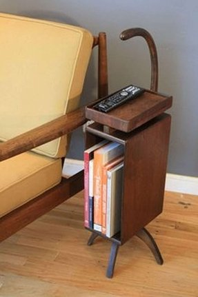 Wood telephone table