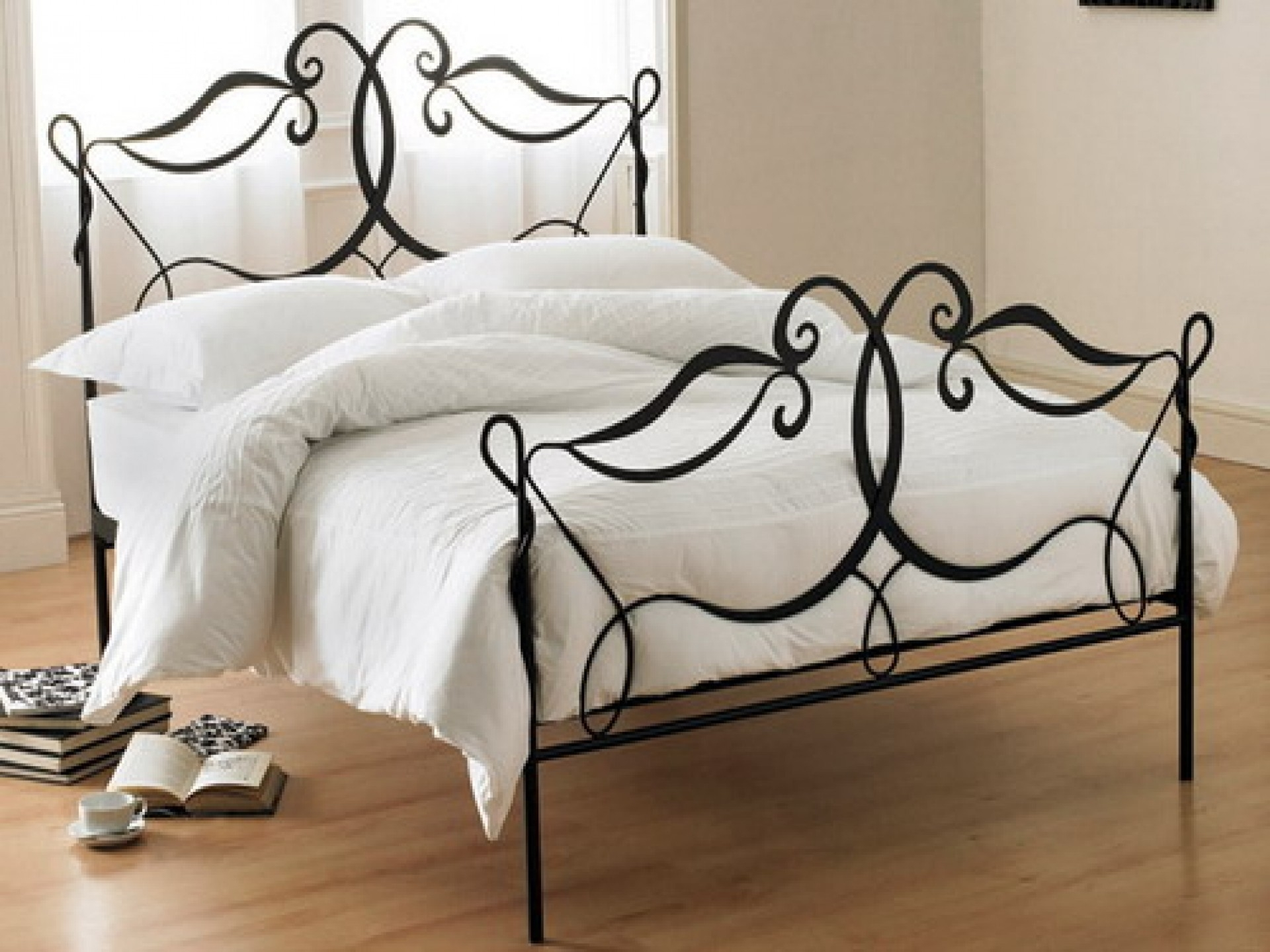 Wrought iron headboard full size