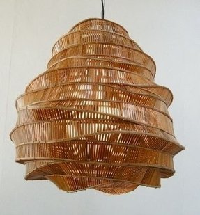 Bamboo lighting fixtures