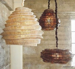 Bamboo pendant light 1