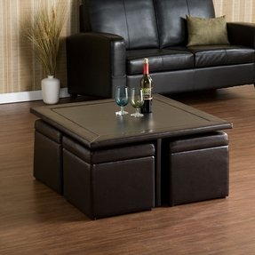 coffee table with seating cubes foter. Black Bedroom Furniture Sets. Home Design Ideas