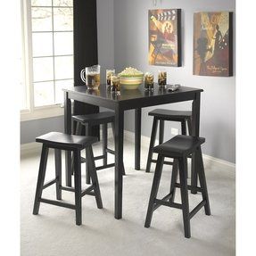Black belfast 5 piece saddle dining set