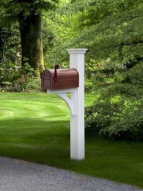 Bronze mailbox and post 12
