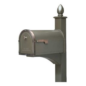Bronze mailbox and post 7