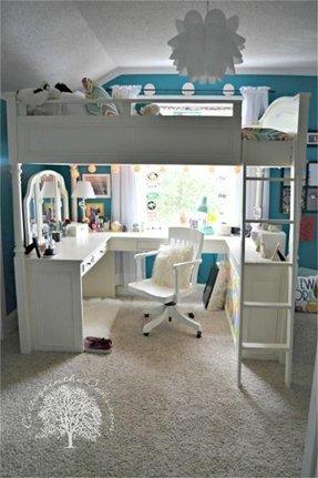 online retailer 8d493 e257c Best Double Loft Bed With Desk for 2020 - Ideas on Foter