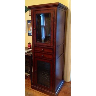 Cabinet with mini fridge