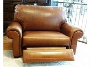 Chair and a half recliner leather 1