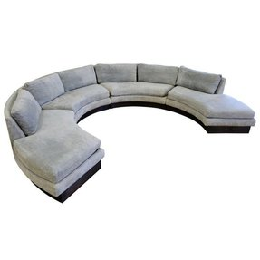Circular curved sectional sofa erwin lambeth john stuart