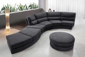 Circular sectional couch 9