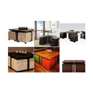 Excellent Coffee Table With 4 Storage Ottomans Ideas On Foter Dailytribune Chair Design For Home Dailytribuneorg