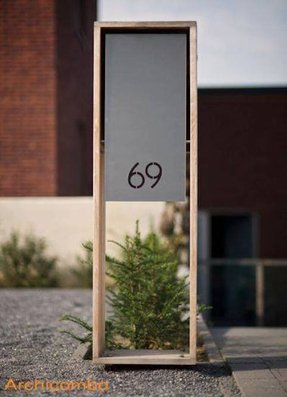 Cool house number signs