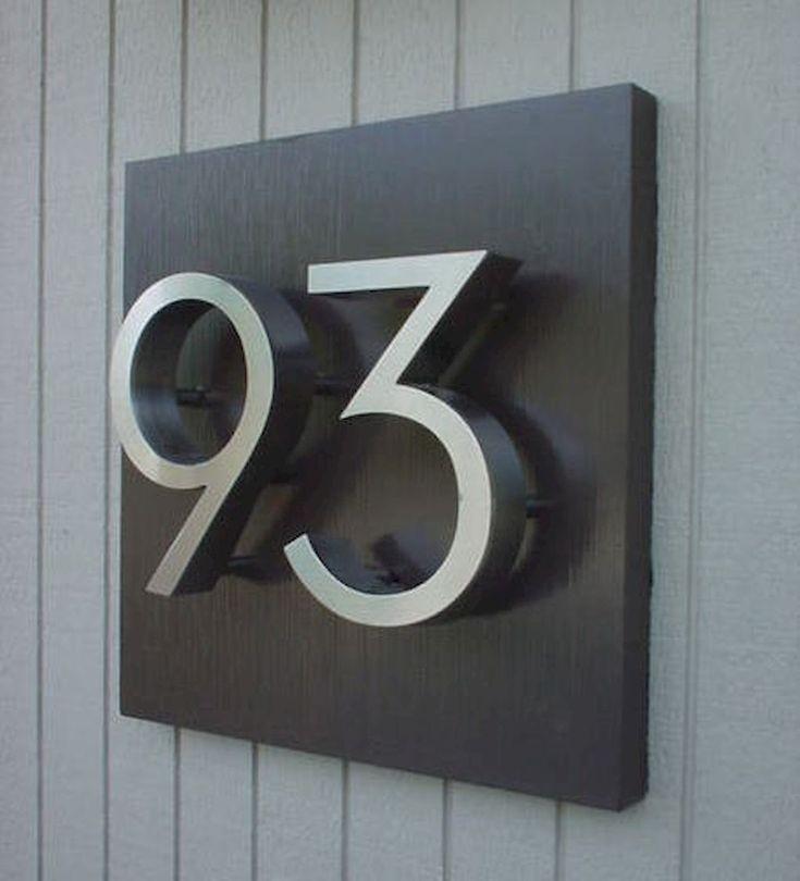 Custom Stainless Steel House Door Numbers