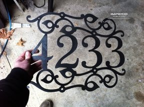 Custom metal address sign house numbers
