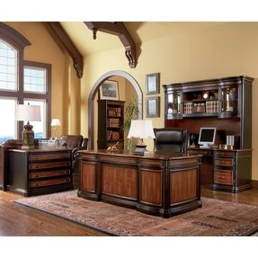 Executive desk and credenza 2