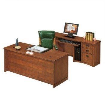 Executive Desk And Credenza