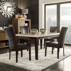 Black Marble Dining Table Set Foter