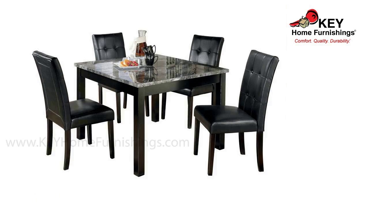 Genial Faux Marble Dining Table Set