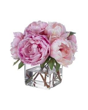 Silk peonies arrangement foter fine silk floral arrangement faux mixed mightylinksfo