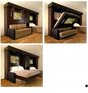 Flip down sofa bed
