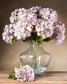 Flower arrangements with hydrangeas