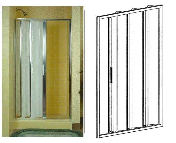 Amazing Folding Bathtub Shower Doors