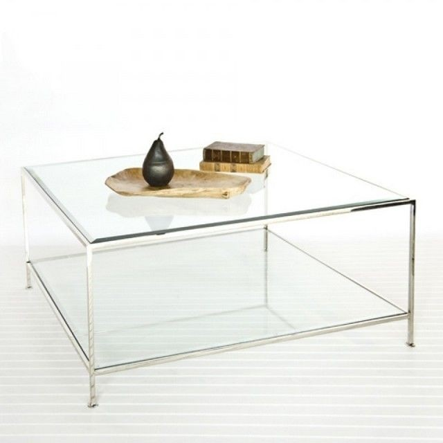 Square Coffee Table With Glass Top Foter