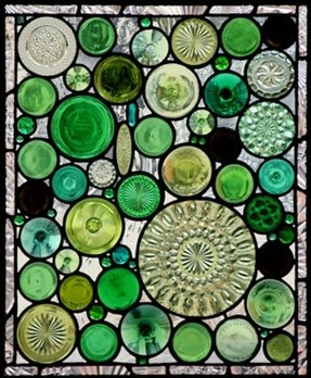 Green decorative plates 1