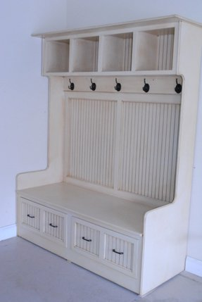 Hall Tree With Bench And Shelves Foter
