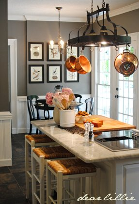 Kitchen Island Pot Rack Lighting