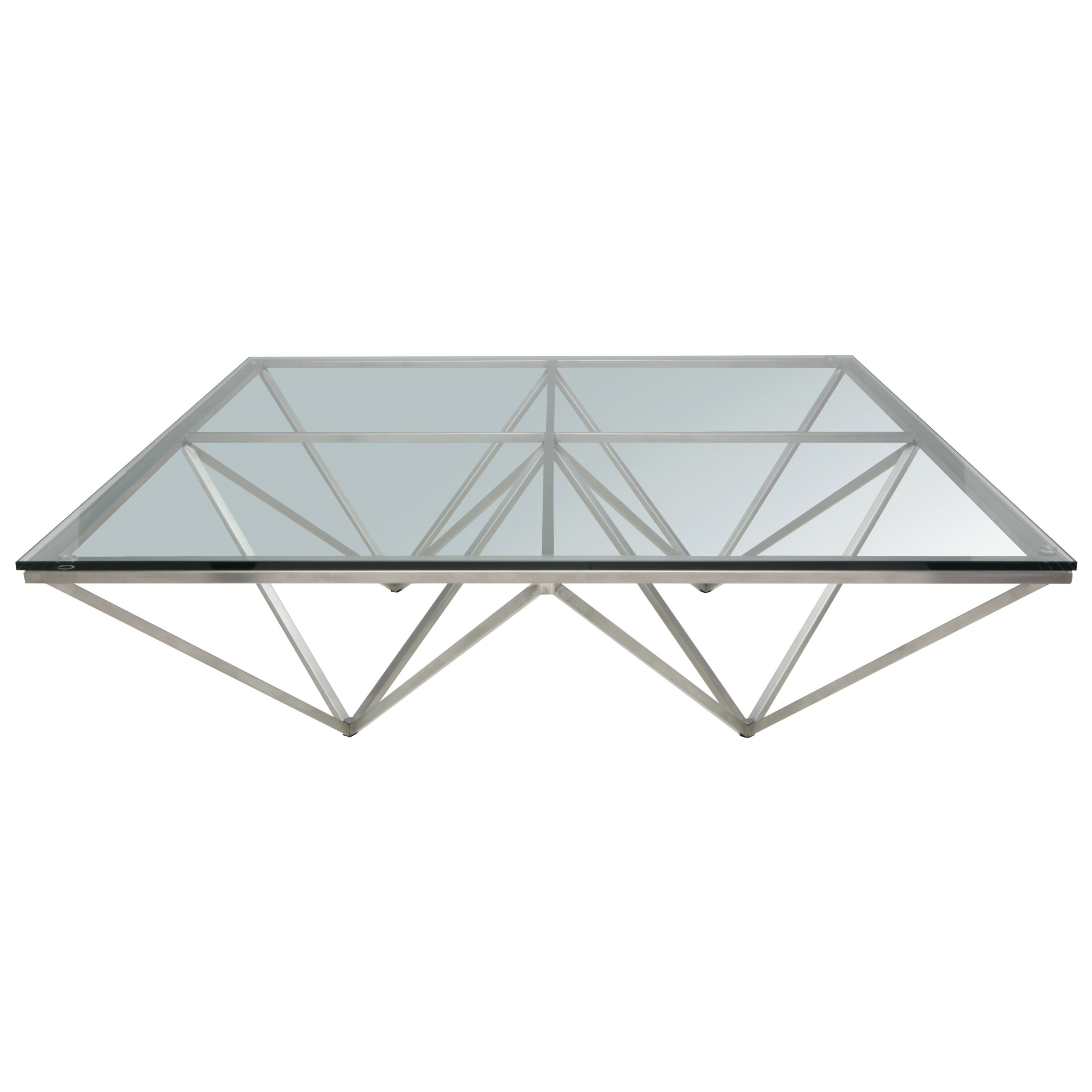 Great Large Square Glass Coffee Table