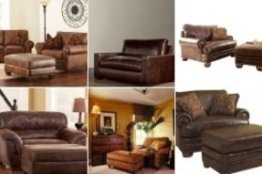 Admirable Leather Chair And A Half With Ottoman Ideas On Foter Frankydiablos Diy Chair Ideas Frankydiabloscom