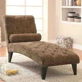 Leopard print chaise lounge sale