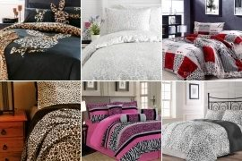 Beau Leopard Print Comforter Set Queen