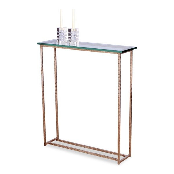 Genial Long Glass Console Table