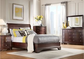 Mahogany sleigh bed king