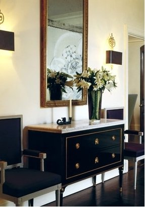 Marble top console tables 15