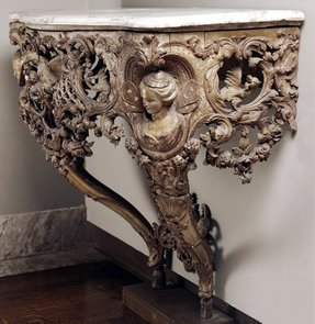 Marble top console tables 7